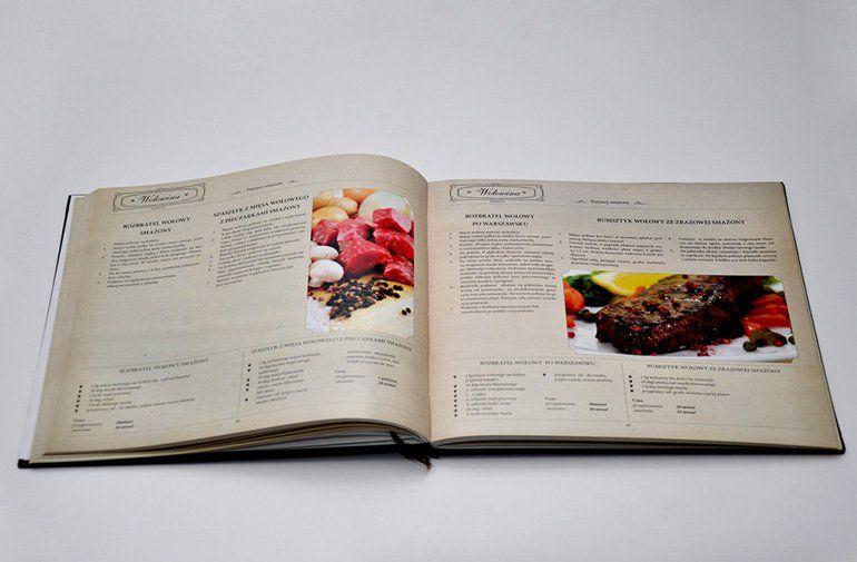 Projekt, skład DTP i druk książki kucharskiej Grzegorza Russaka.