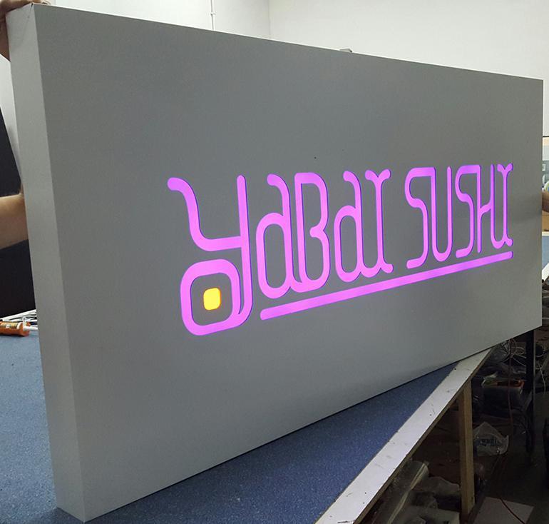 kaseton reklamowy podświetlany LED