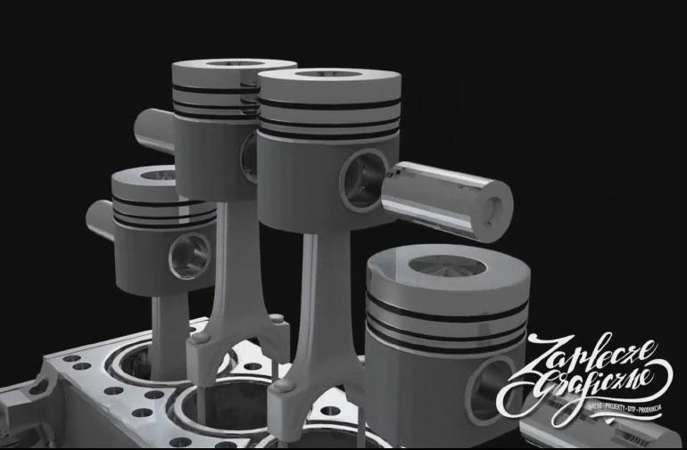 animacja silnika spalinowego