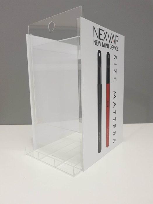 Podajnik/ekspozytor do e-papierosów