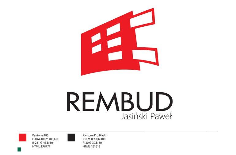 Projekt graficzny logo firmy REMBUD