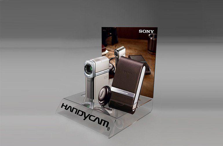 Projekt i wizualizacja POS ekspozycji kamery SONY