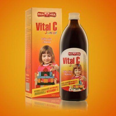 Etykiety i pudełka produktu Vital C