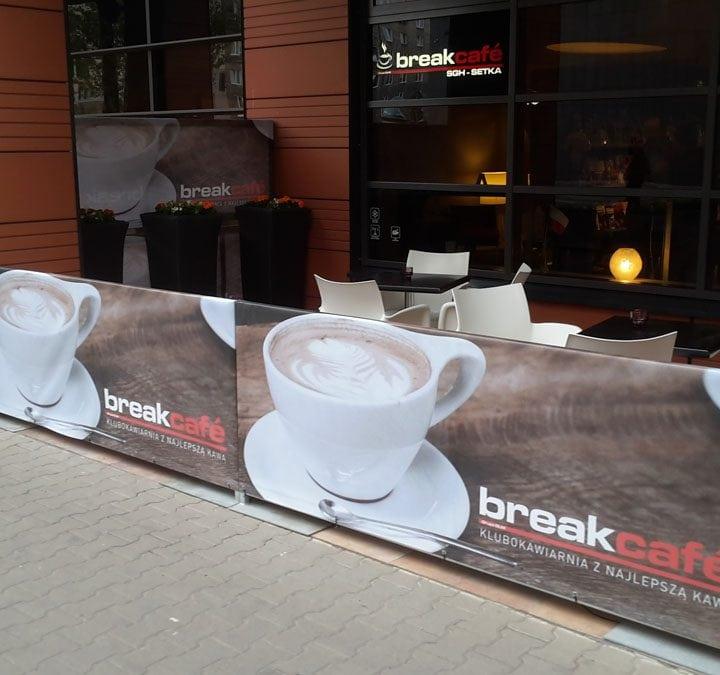 Baner reklamowy kawiarni