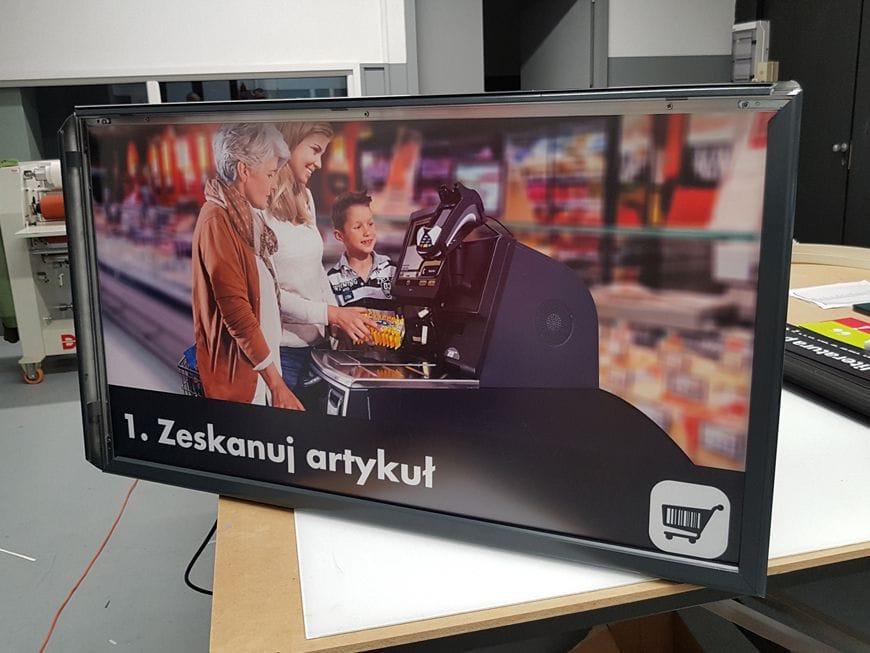 Kaseton reklamowy podświetlany jednostronny