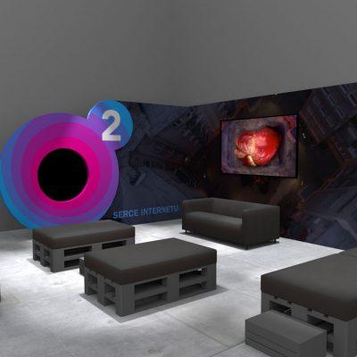 Wizualizacja scenografii strefy o2