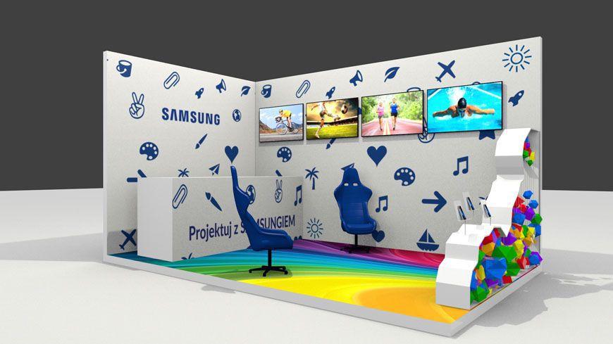 Projekt i wizualizacja strefy eventowej