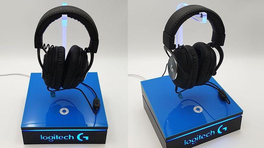 Ekspozytor podświetlany pod słuchawki gamingowe