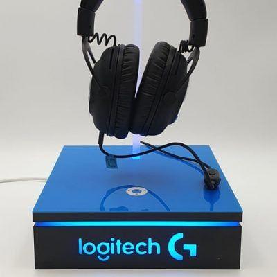 Ekspozytor podświetlany do prezentacji słuchawek