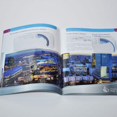 Projekt i skład do druku broszur dla Lotniska Chopina w Warszawie