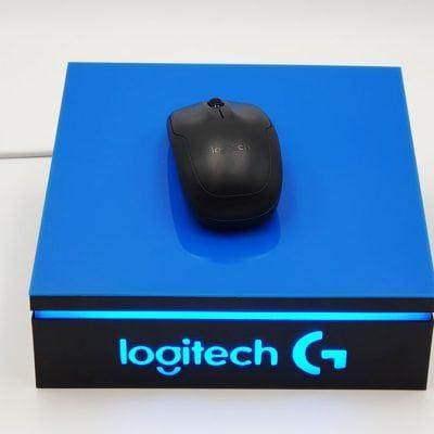 Ekspozytor podświetlany pod mysz komputerową