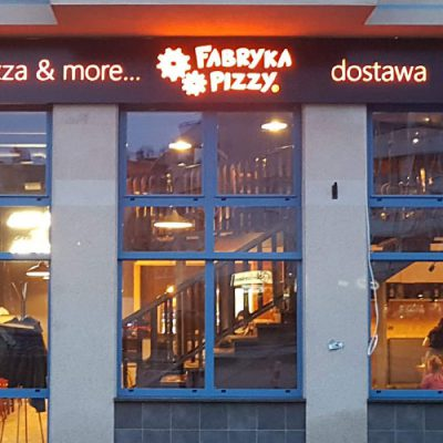 Pizzeria - otok z dibondu